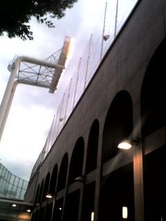 神宮球場です!